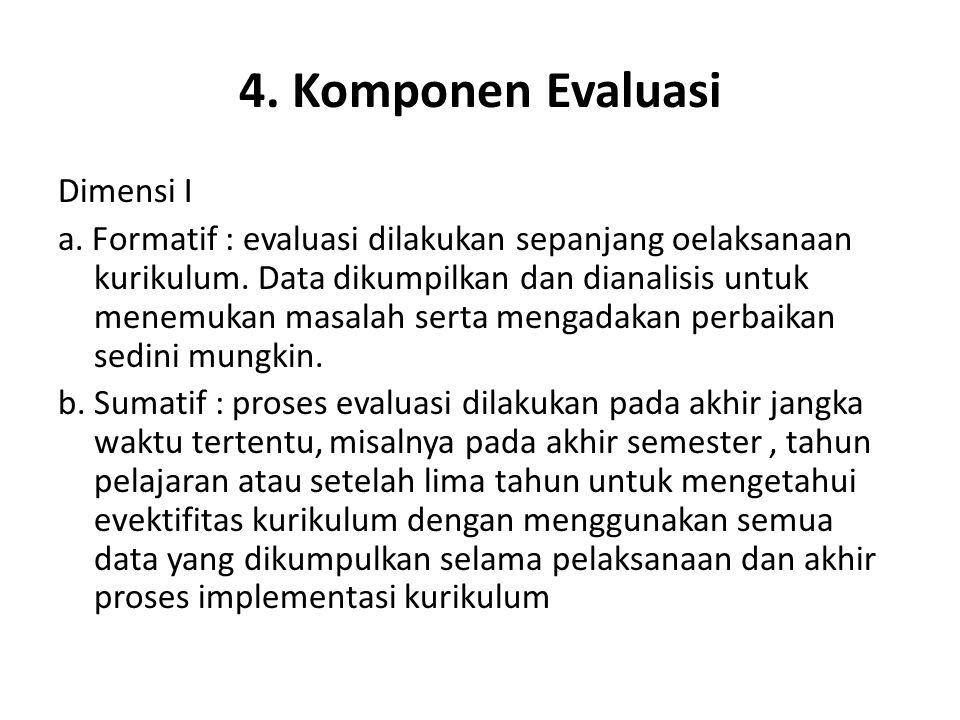 4.Komponen Evaluasi … Dimensi II a.