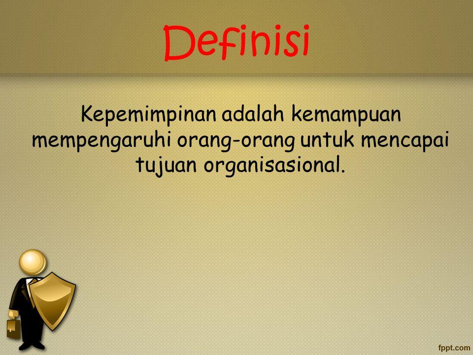 Pemimpin mendefinisikan apa yang harus dilakukan oleh pengikut untuk mencapai hasil kerja.