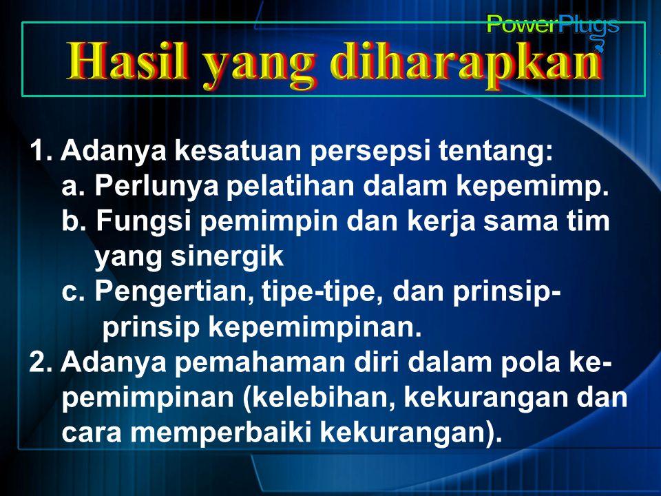 Mengapa Perlu Pelatihan Kepemimpinan.(1) 1.