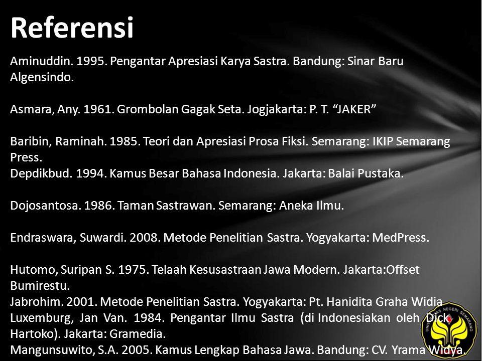 Referensi Aminuddin. 1995. Pengantar Apresiasi Karya Sastra.