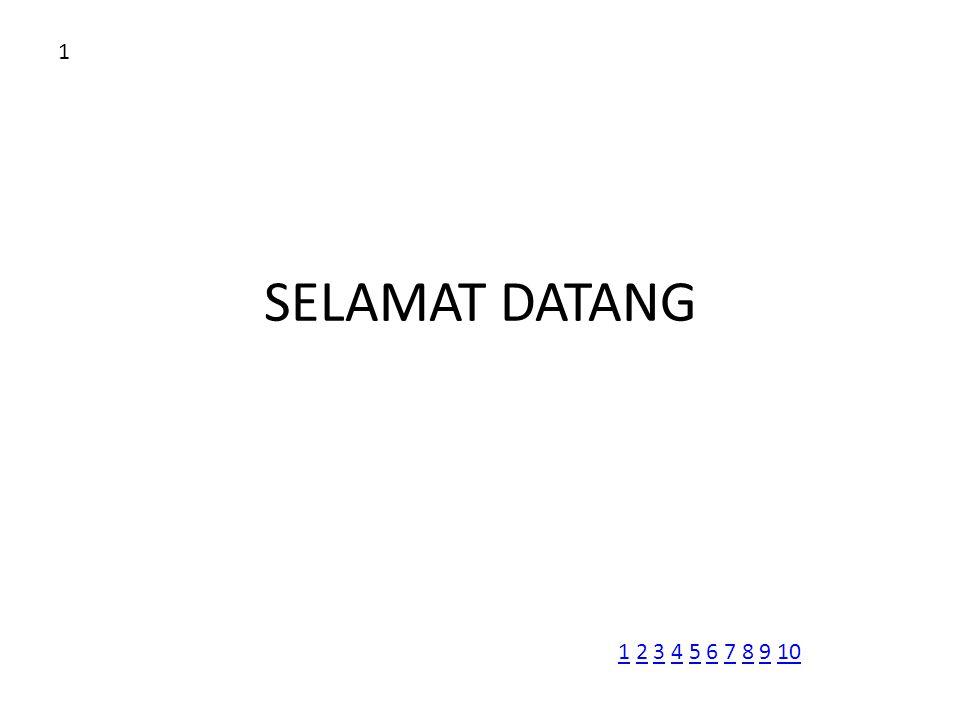 SELAMAT DATANG 1 11 2 3 4 5 6 7 8 9 102345678910