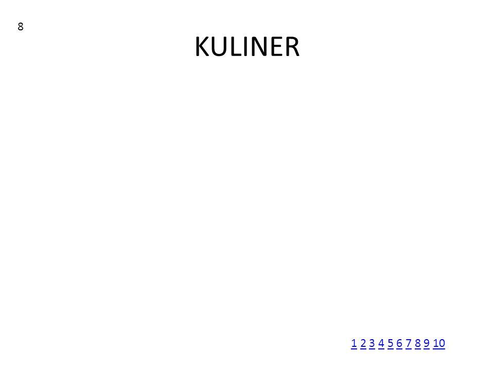 KULINER 8 11 2 3 4 5 6 7 8 9 102345678910