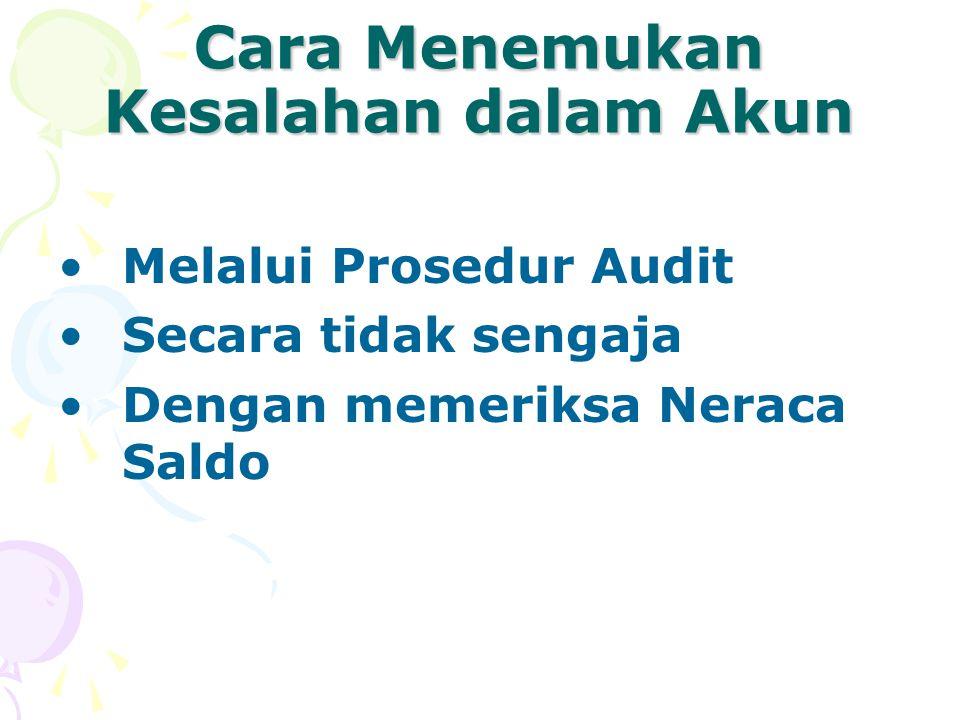 Cara Menemukan Kesalahan dalam Akun Melalui Prosedur Audit Secara tidak sengaja Dengan memeriksa Neraca Saldo