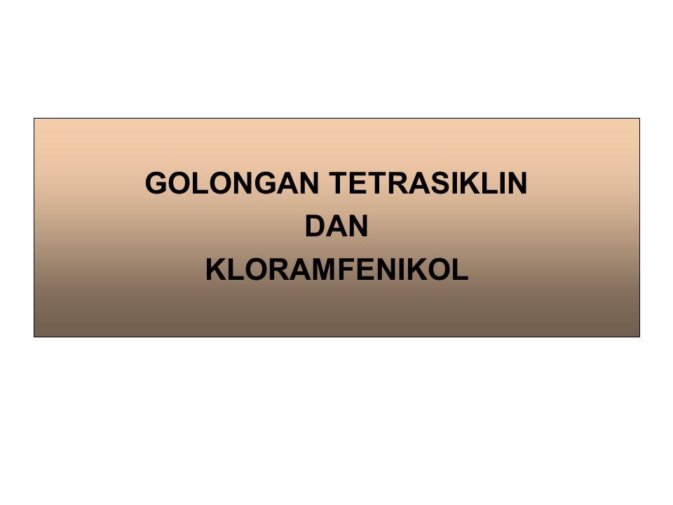 1.ASAL DAN KIMIA Yg pertama ditemukan ialah klortetrasiklin, dihasilkan oleh Streptomyces aureofaciens.