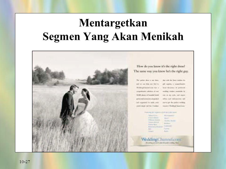 10-27 Mentargetkan Segmen Yang Akan Menikah