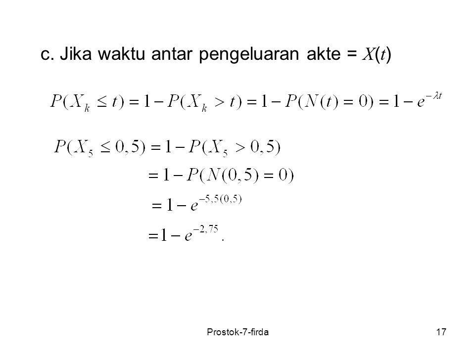 17 c. Jika waktu antar pengeluaran akte = X ( t ) Prostok-7-firda