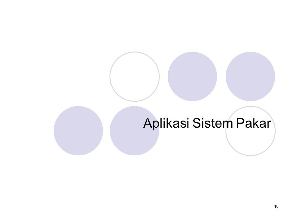 16 Aplikasi Sistem Pakar