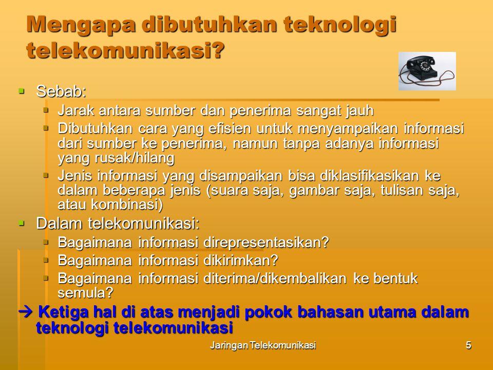 Jaringan Telekomunikasi6 Sejarah & Evolusi Jaringan Telekomunikasi  1837 - Samuel Morse exhibited a working telegraph system.