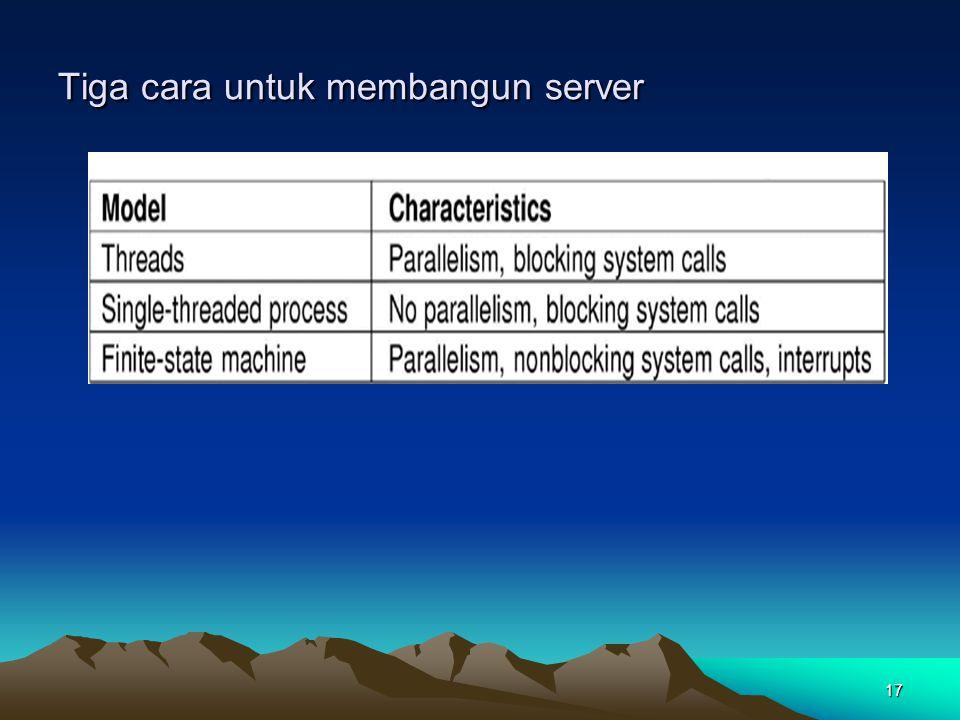 17 Tiga cara untuk membangun server