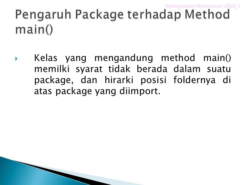 1.Mendeklarasikan dan memberi nama package. 2.