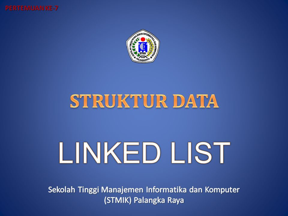 Penyisipan dalam List INSERT FIRST Sisipkan Elemen Baru ke awal list Algoritma: If AVAIL=NULL then Overflow Exit Endif New  AVAIL AVAIL  LINK(AVAIL) INFO(New)  ITEM LINK(New)  START START  New
