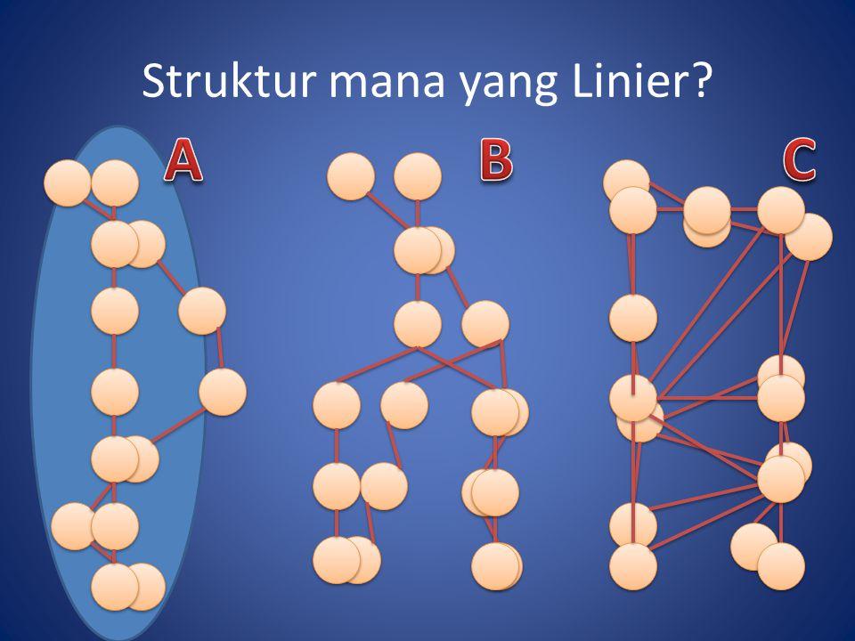Struktur mana yang Linier?