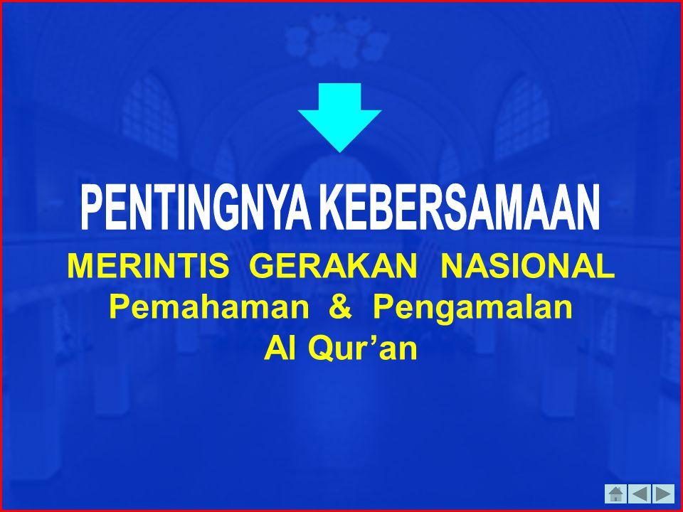 Bangsa Indonesia yang terdiri mayoritas muslim, ternyata tidak mampu menunjukkan sebagai bangsa yang terbaik. Justru sebaliknya. 1. Mungkinkah Al Qur'