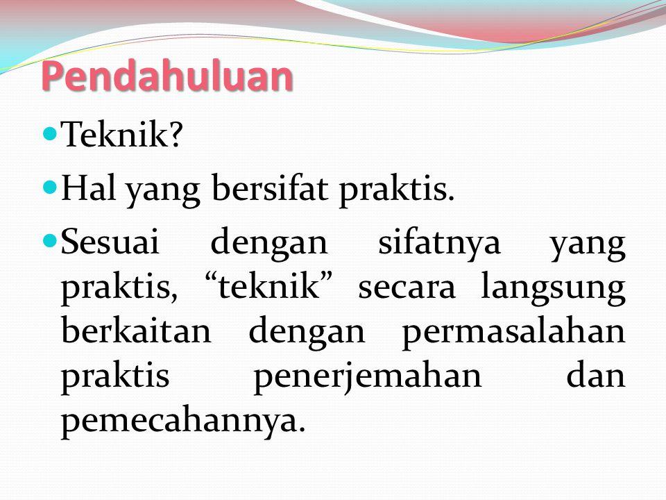 Contoh penerjemahan resmi/baku 1 BSu (Inggris) : Japan BSa (Indonesia) : Jepang BSa (Jepang) : Sumo BSu (Indonesia) : Gulat tradisional Jepang