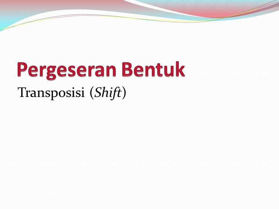 Definisi dan Jenis Suatu teknik penerjemahan yang meliputi perubahan bentuk gramatikal dari BSu ke BSa (Newmark, 1988:85).