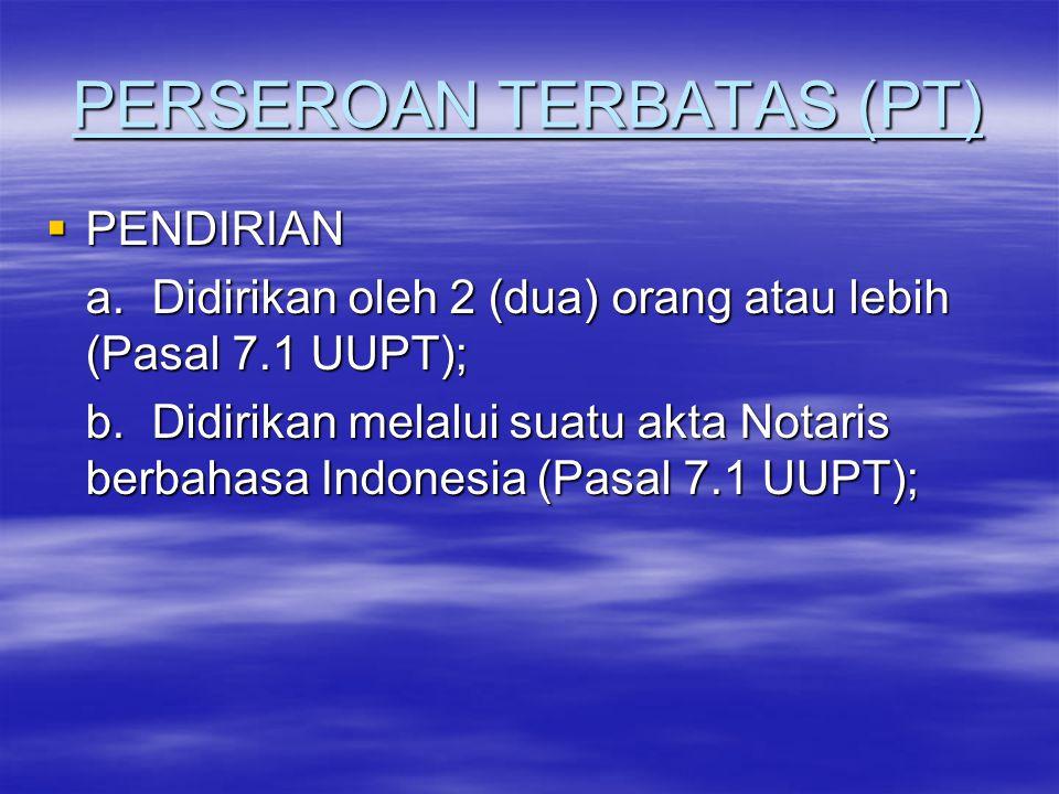 MODAL  Pasal 25 & 26 UUPT a.
