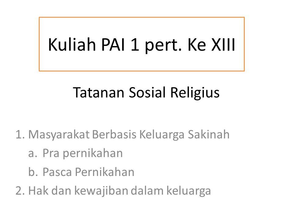 Tatanan Sosial Religius 1.