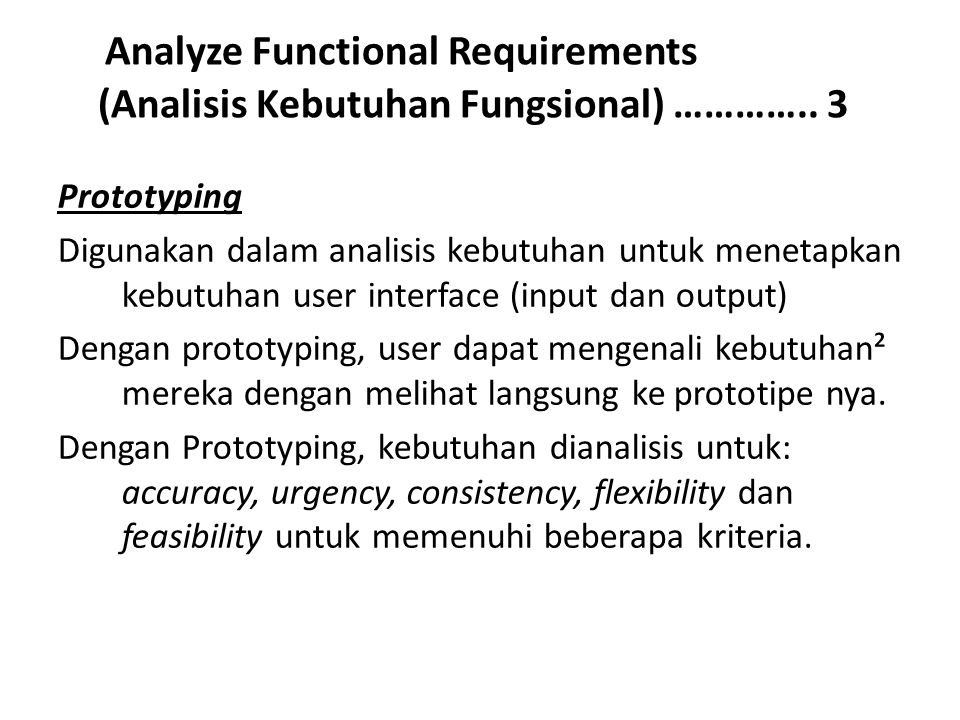 Analyze Functional Requirements (Analisis Kebutuhan Fungsional) …………..