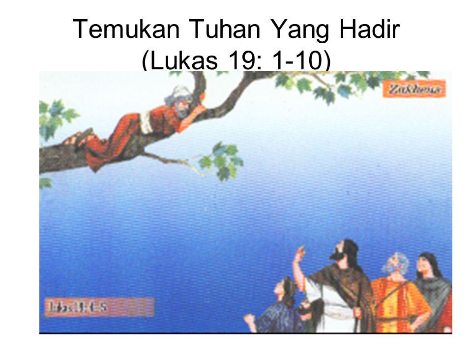 Zakheus memberi separuh harta bendanya.