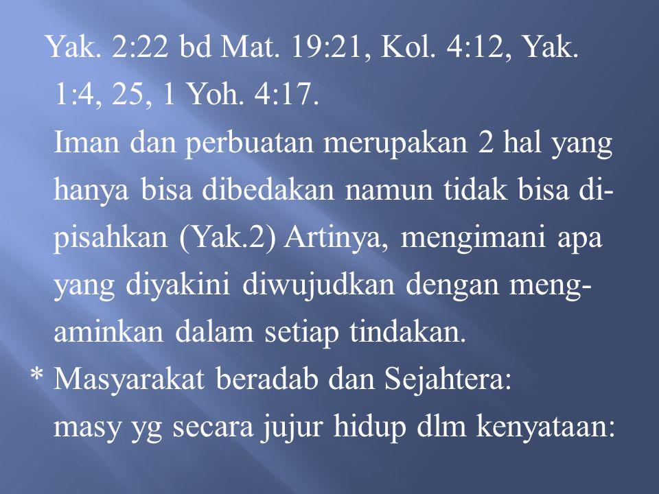 1.Mengakui persamaan derajat dan persa – maan antara sesama manusia 2.