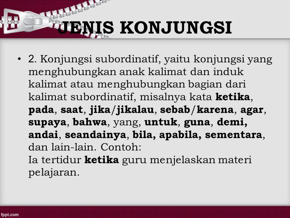 JENIS KONJUNGSI 2.
