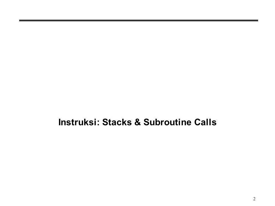 2 Instruksi: Stacks & Subroutine Calls