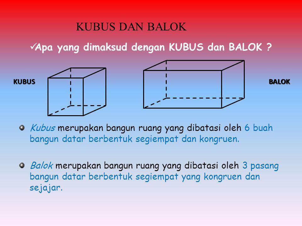 Apa yang dimaksud dengan KUBUS dan BALOK .
