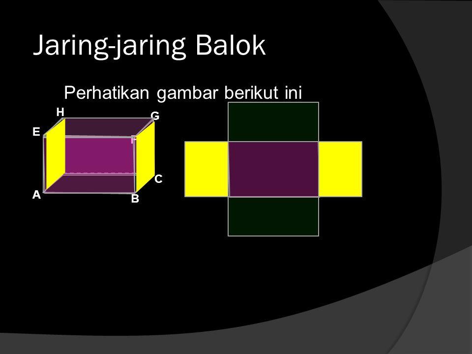 Jaring-jaring Balok Perhatikan gambar berikut ini B A C D E F G H