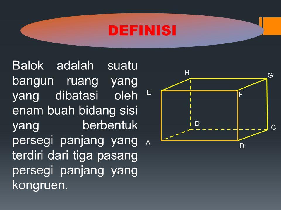 U S V P T R Q W Perhatikan gambar balok di bawah ini !