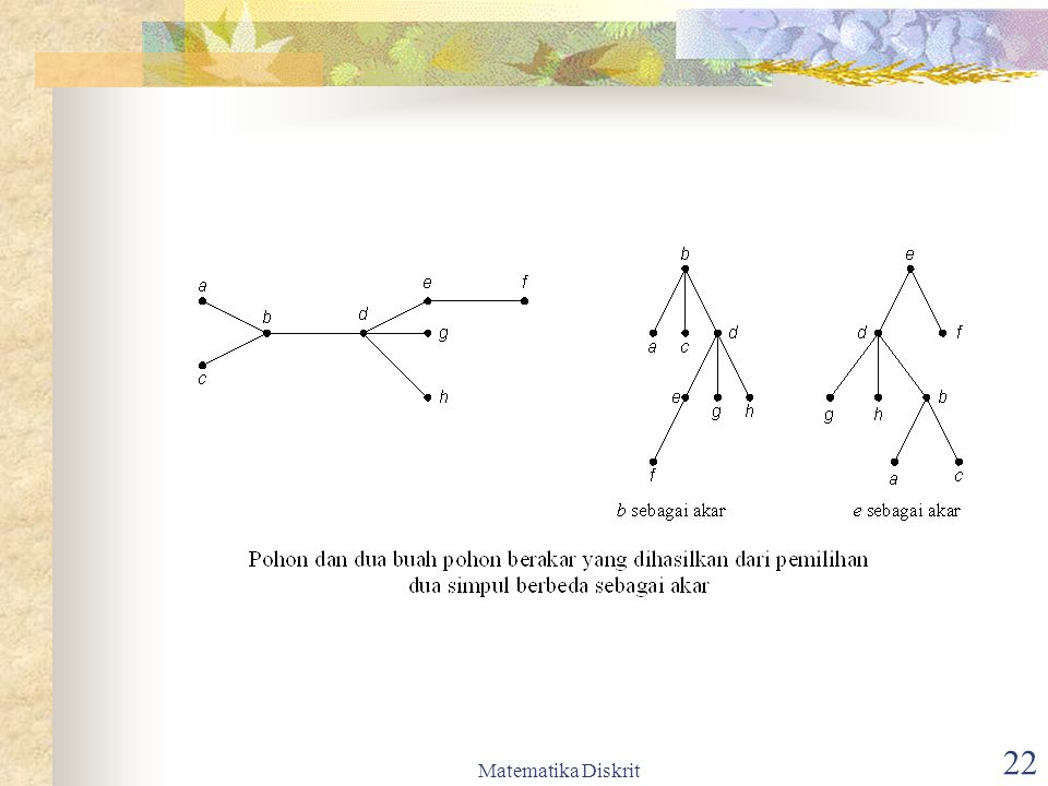 Matematika Diskrit 23 Terminologi pada Pohon Berakar