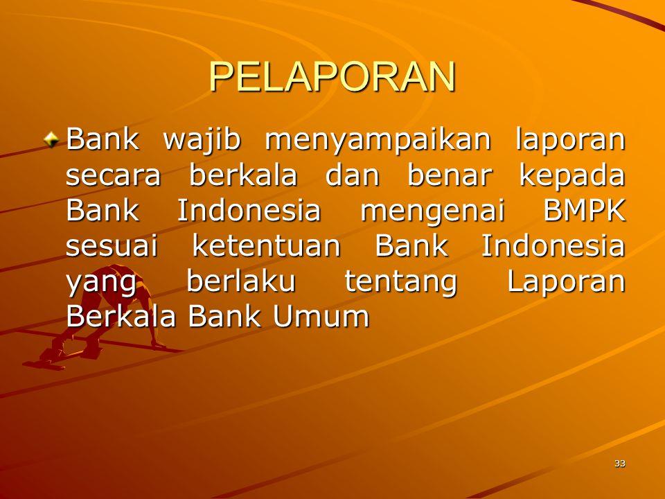 32 PENGECUALIAN BMPK –Pemberian Kredit kpd BUMN untuk tujuan pembangunan yang mempengaruhi hajat hidup orang banyak dan (termasuk infrastruktur)  max