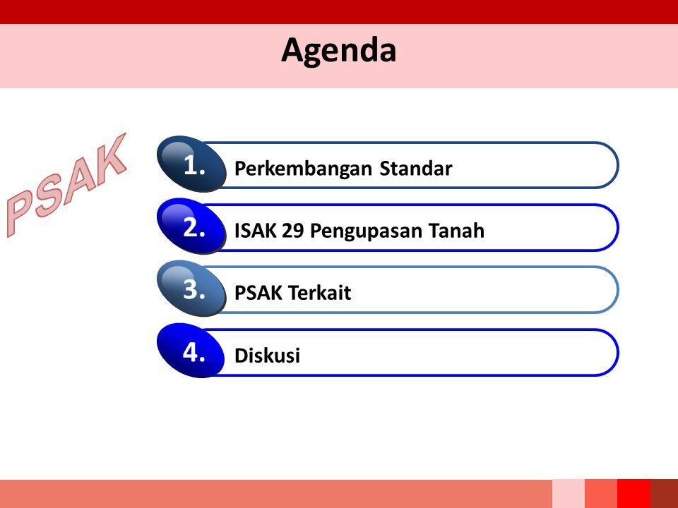 Agenda Perkembangan Standar 1. ISAK 29 Pengupasan Tanah 2. PSAK Terkait 3. Diskusi 4.4.