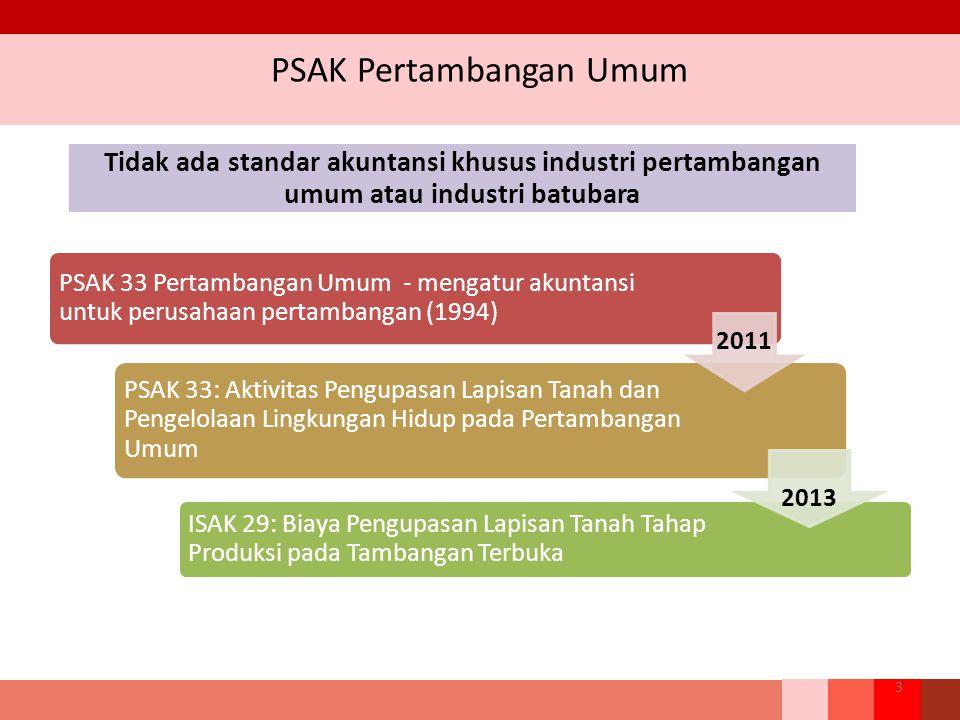 Pengukuran Biaya Perolehan 24 Pengeluaran yang terkait dengan pengembangan sumber daya mineral tidak diakui sebagai aset eksplorasi dan evaluasi.
