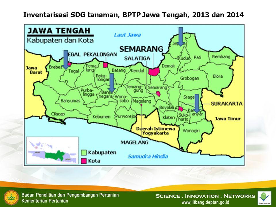 Inventarisasi SDG tanaman, BPTP Jawa Tengah, 2013 dan 2014