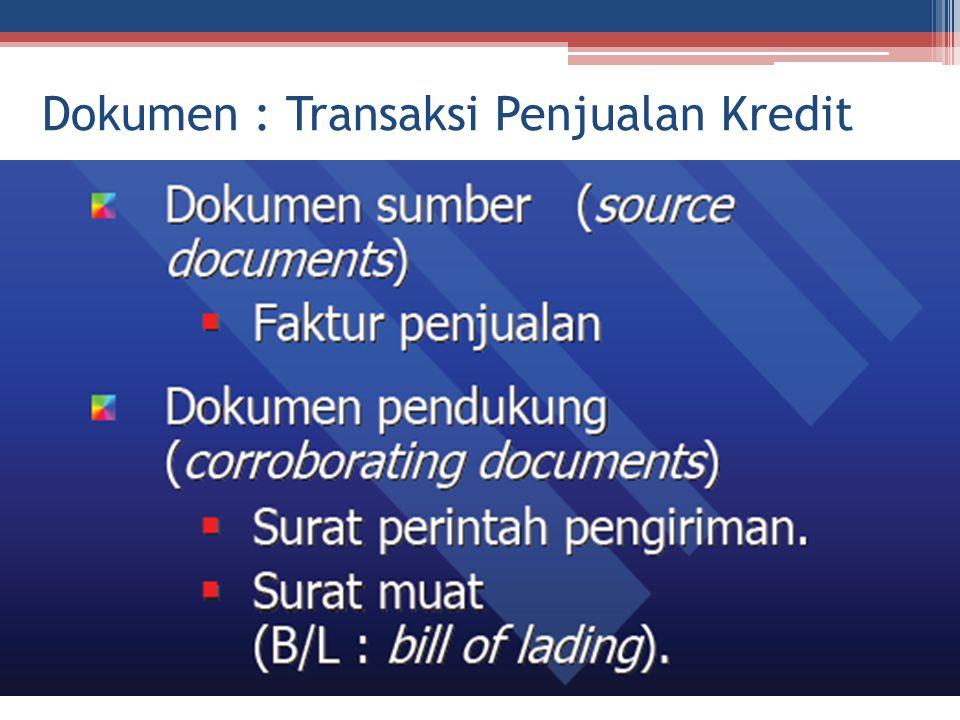 Dokumen : Transaksi Penjualan Kredit