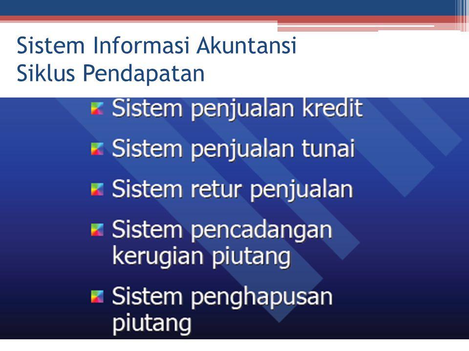 Sistem Informasi Akuntansi Siklus Pendapatan
