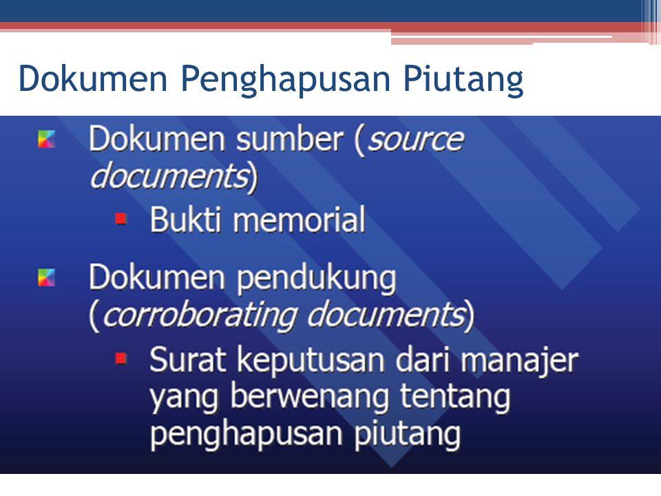 Dokumen Penghapusan Piutang
