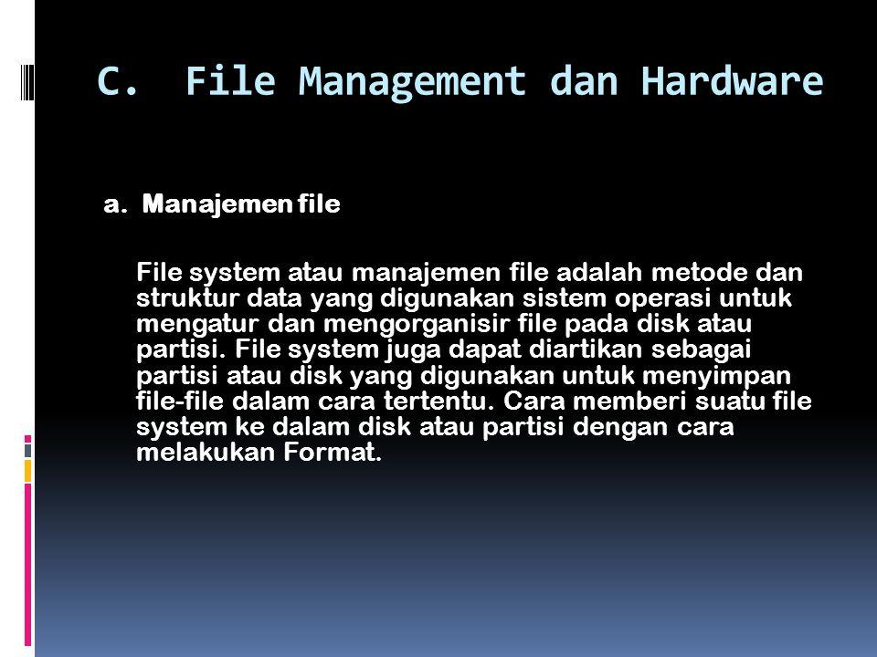 C.File Management dan Hardware a.