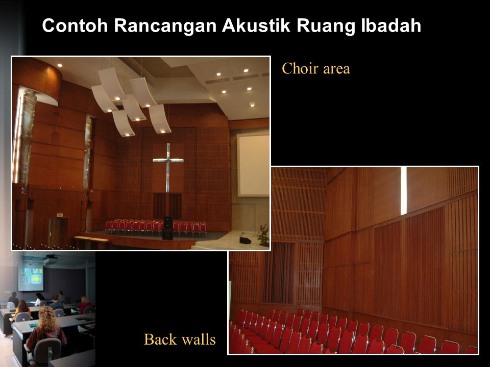 Contoh Rancangan Akustik Ruang Ibadah Praying Hall Diffusing Dome