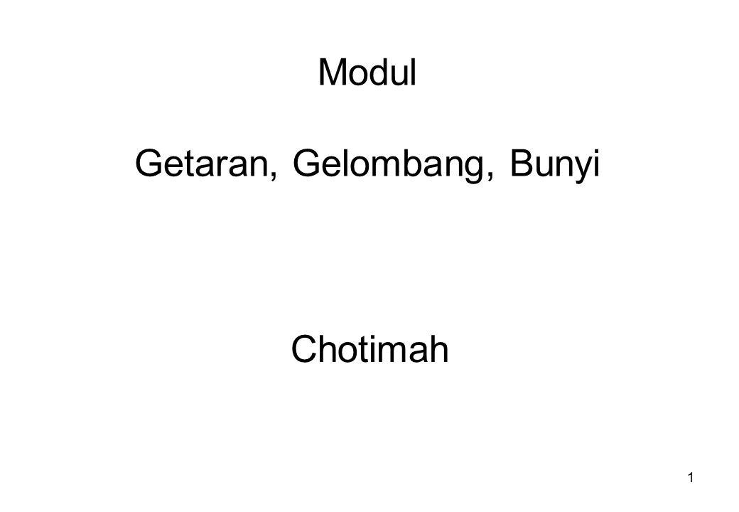 1 Modul Getaran, Gelombang, Bunyi Chotimah