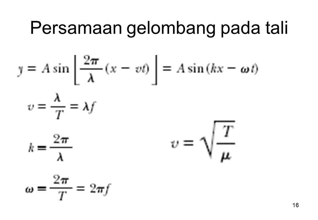 Persamaan gelombang pada tali 16