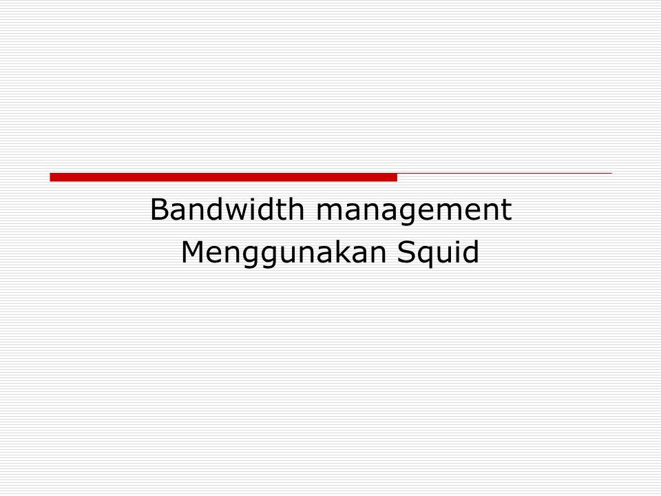Bandwidth management Menggunakan Squid