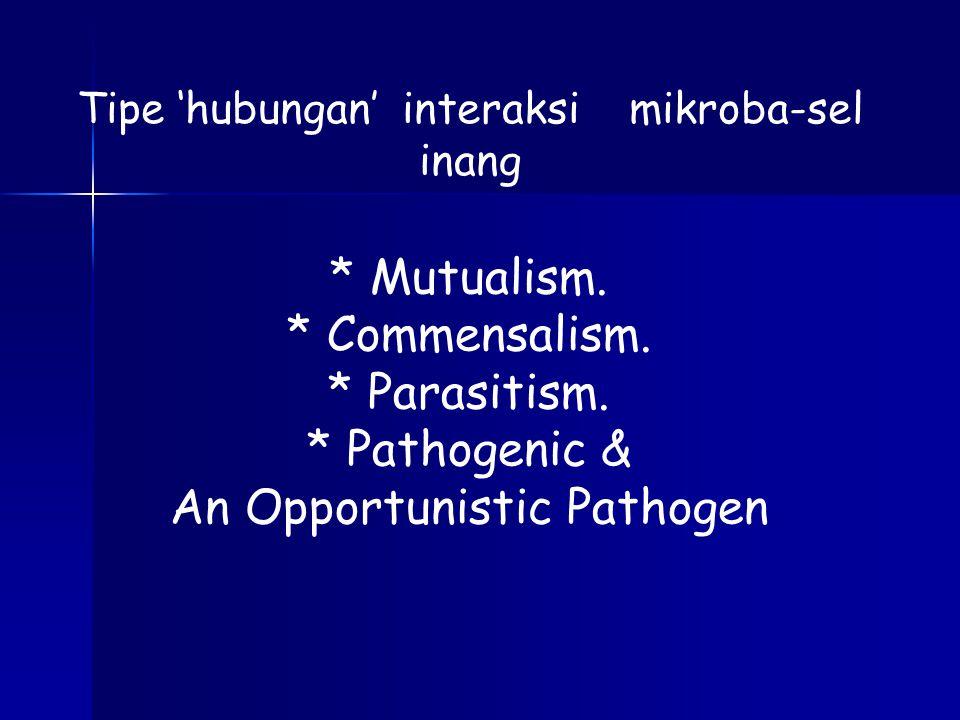 * Mutualism.* Commensalism. * Parasitism.