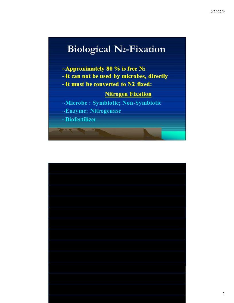 9/21/2010 3 Root Nodule Bacterium : N2 Fixation