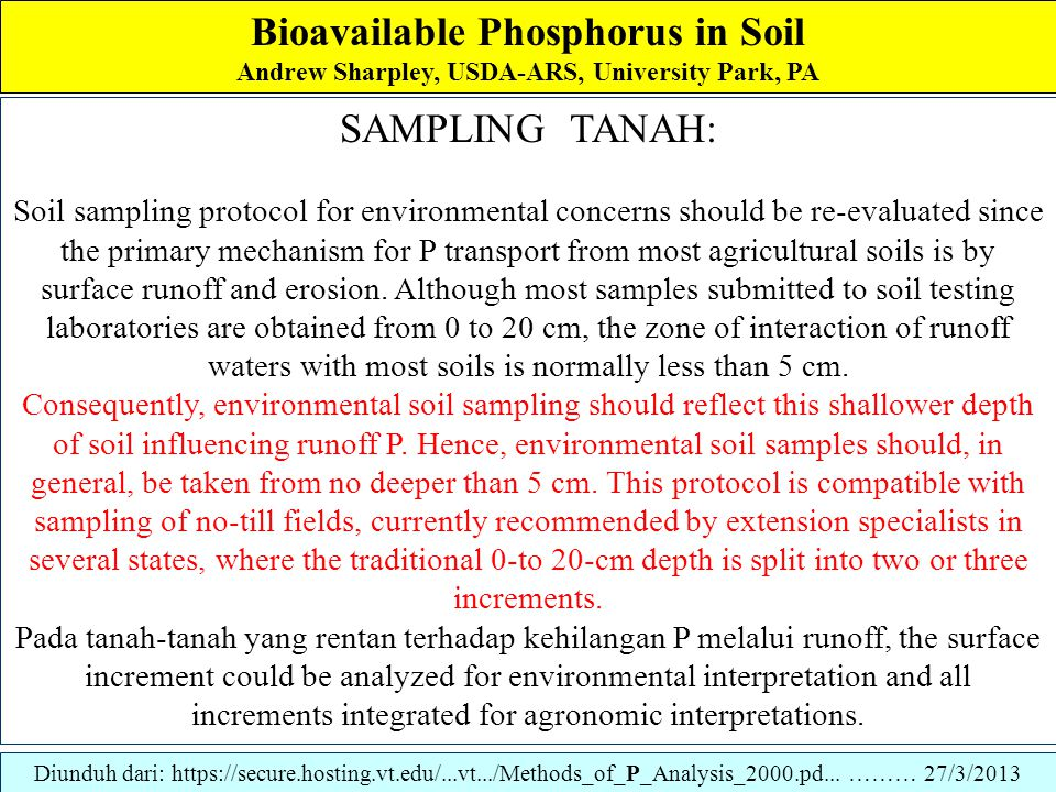 Bioavailable Phosphorus in Soil Andrew Sharpley, USDA-ARS, University Park, PA Ion-exchange Resin-Impregnated Membranes A similar approach using ion-exchange resin impregnated membranes has been investigated by several researchers (Abrams and Jarrell, 1992; Qian et al., 1992: Saggar et al., 1992).