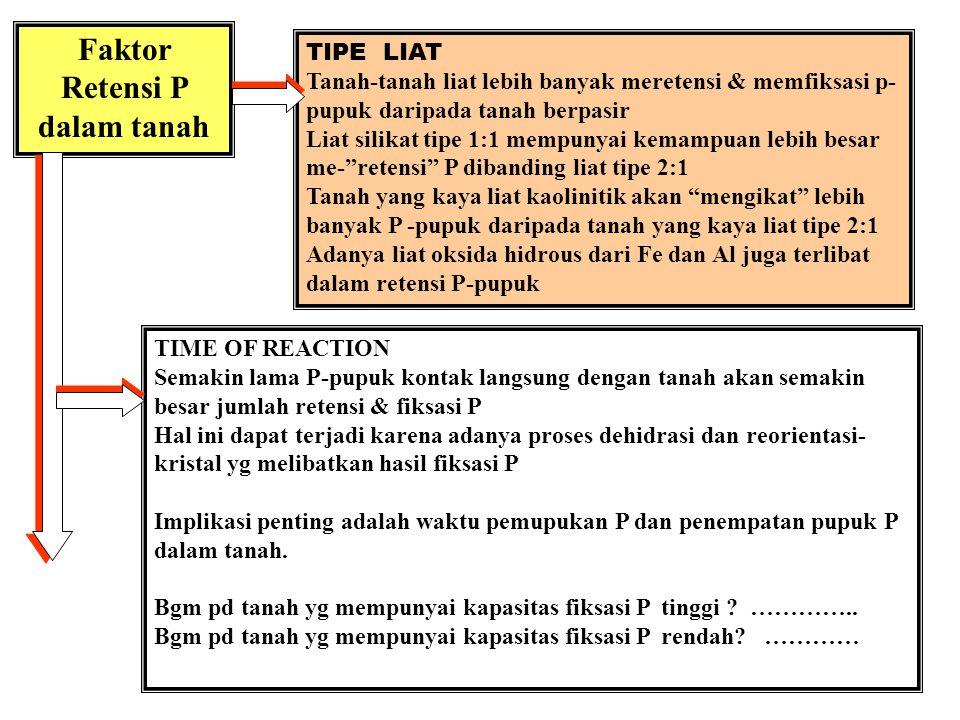 1. P - ANORGANIK: Fraksi aktif & Fraksi tidak aktif 2. Fraksi aktif : Ca-P, Al-P dan Fe-P 3. Fraksi tdak-aktif : Occluded-P dan Reductant-soluble P 4.