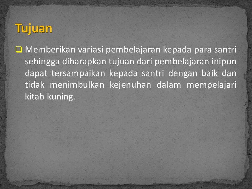  Pengajaran kitab kuning juga merupakan salah satu faktor untuk memahami Al-Qur'an.