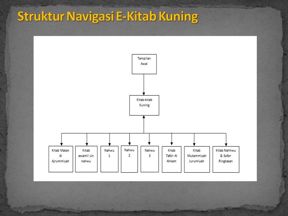  Aplikasi ini merupakan alat alternatif dalam mempelajari kitab kuning dengan menggunakan komputer.