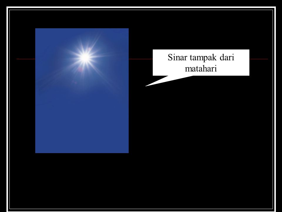 Sinar tampak dari matahari