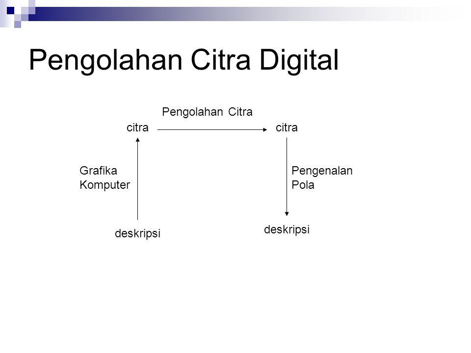 Pengolahan Citra Digital deskripsi citra deskripsi Grafika Komputer Pengolahan Citra Pengenalan Pola